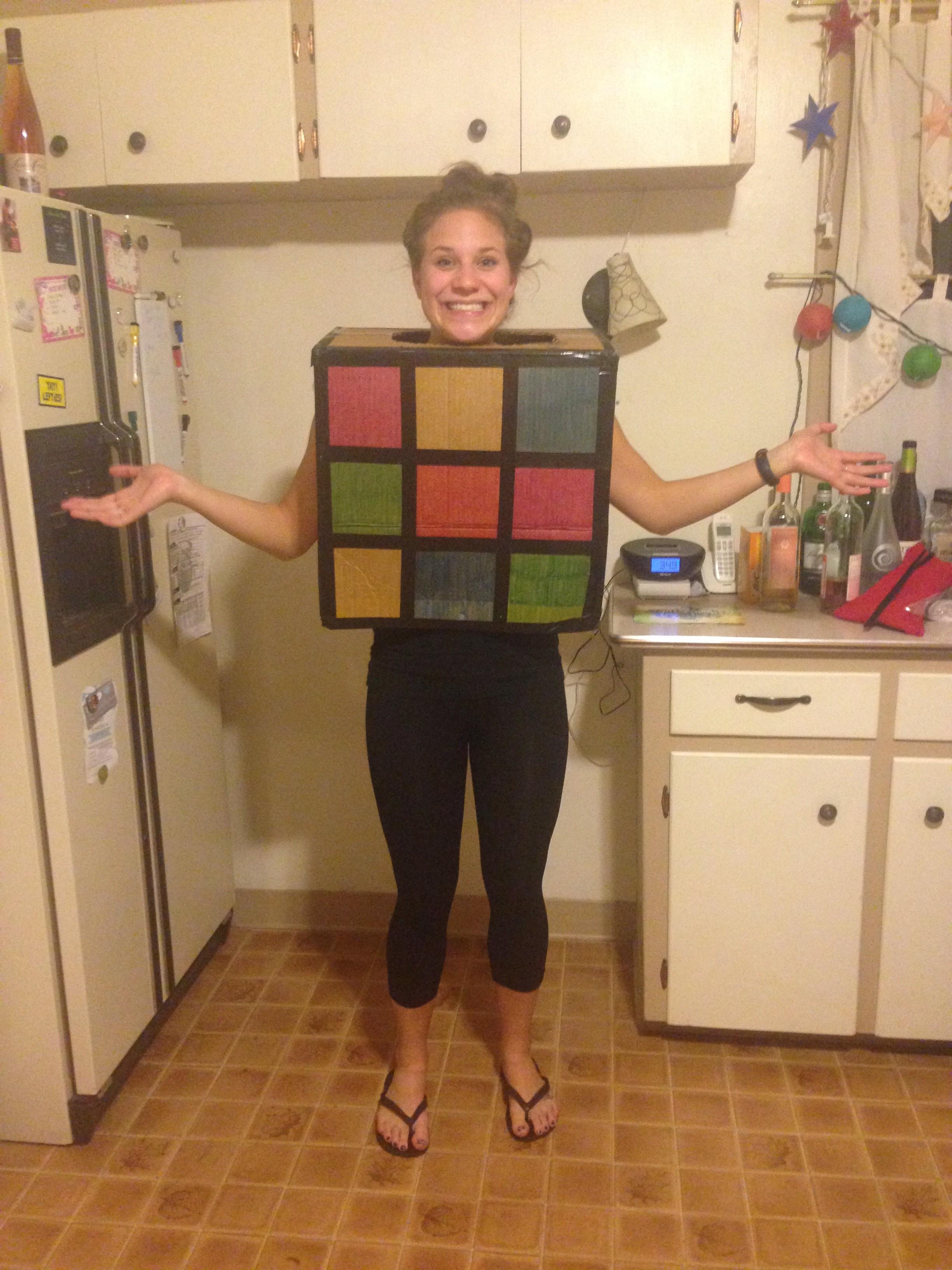 28 diy halloween costumes college in a nutshell unbelievab rubiks cube solutioingenieria Images