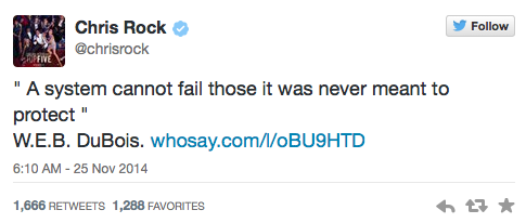 Chris Rock Tweets about Ferguson