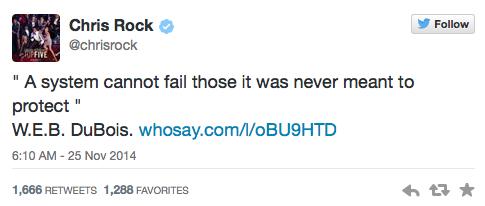 Chris Rock Tweets about Ferguson