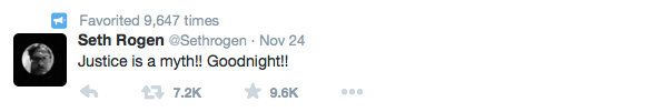 Seth Rogen Tweets about Ferguson