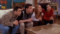 Friends watching TV