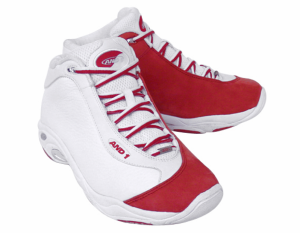 Red and White And1 Shoes