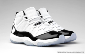 Air Jordans 11 black and white