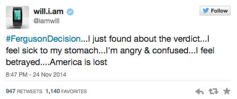 Will.i.am Tweets about Ferguson 2