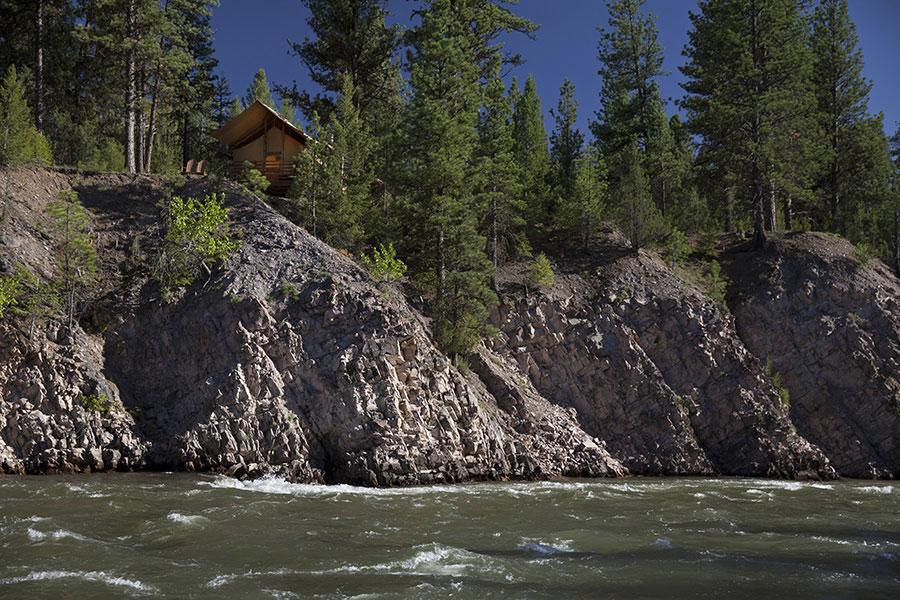 Cliffside camp