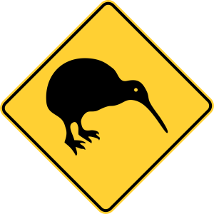 Road sign in New Zealand