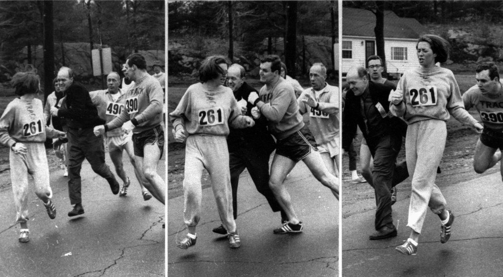 On Wednesday, April 19, 1967, Kathrine Switzer became the first woman to run the Boston Marathon, even after the race's organizer tried to tackle her mid-race. Along with figures like Billie Jean King, Kathrine paved the way for female athletes, inspiring lasting interest in women's sports.